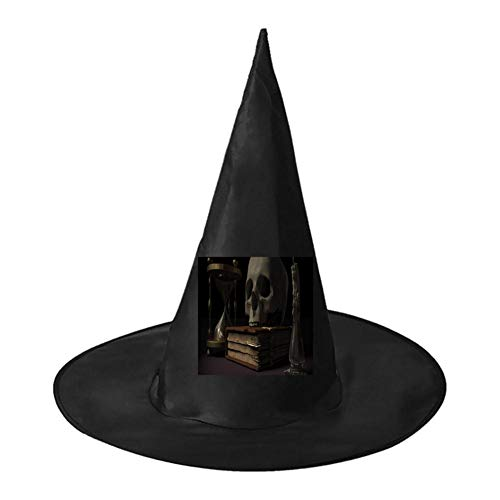 Bones in Books Unisex Halloween Witch Role Playing Wizard Hat for Costume Accessory