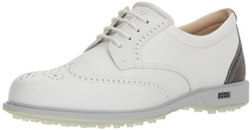 ECCO Women's Classic Hybrid Golf Shoe White/Silver Metallic 41 M EU (10-10.5 US)