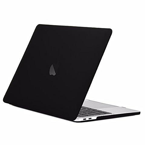 TOP CASE - Macbook Pro 13 Case Release 2017 & 2016, Rubberized Matte Hard Case Cover for MacBook Pro 13-inch A1706 / A1708 with / without Touch Bar ( Release 2017 & 2016 ) - Matte (Macbook Pro Rubber Cover 13 Inch)
