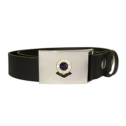 fan products of Sheffield Wednesday football club leather snap fit belt