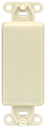Ivory Adapter (Leviton 80414-I Decora plastic adapter plate, Blank - No hole, with-ears, and two mounting screws. Ivory)