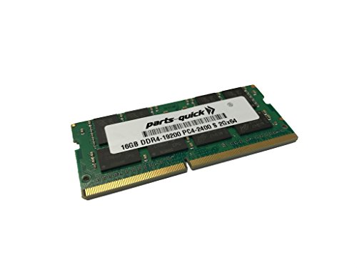 16GB Memory for Fujitsu LIFEBOOK E557 DDR4 2400MHz SODIMM RAM (PARTS-QUICK BRAND)