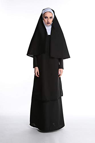 Halloween Costumes Stage Costumes _ Halloween Makeup Priest Godfather Couple Virgin Mary Nuns Stage Costumes, Women Models, M