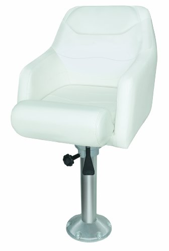 (Wise  8WD1205-8-784 Premium Flip-Up Bolster Bucket Seat with 15-Inch Fixed Height Pedestal,)