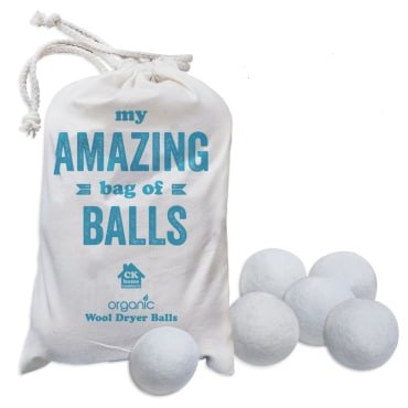 Wool Dryer balls, 6 XL, Premium Organic New Zealand Wool, Reusable All Natural Fabric Softener. Baby Safe, Reduces Wrinkles, Softens Clothing and Laundry. Practical Funny Great Gift Idea.