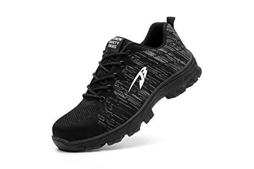 e S3 Escursionismo Calzature per Scarpe di Nero Comodissime da Uomo in Axcer Donna Sneaker Antinfortunistiche Cantiere da Traspiranti Sportive Scarpe Scarpe Lavoro Sicurezza Punta con Acciaio da Stivali Af1WwWdqY