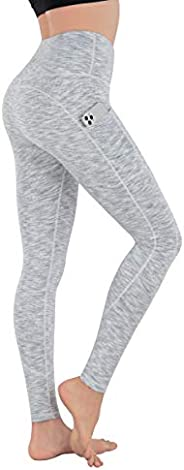 espidoo Women's High Waisted Yoga Capris, Tummy Control Workout Leggings with Pockets for Women, Ultra Sof