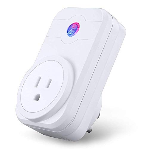 WiFi Smart Socket Mini Outlet Plug Compatible with Alexa Google Home IFTTT Wireless Smart Wall Socket Remote Switch with Timing Function Remote Control No Hub Required