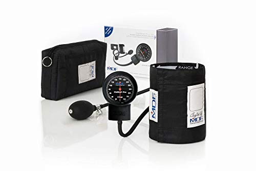 MDF Calibra Pro Aneroid Sphygmomanometer - Blood Pressure Monitor with Adult Sized Cuff Included - Full & Free-Parts-For-Life - Black (MDF808B-11)