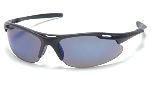 Pyramex Safety Avante Eyewear, Black Frame, Blue Mirror Lens (Rb Sunglasses Online)