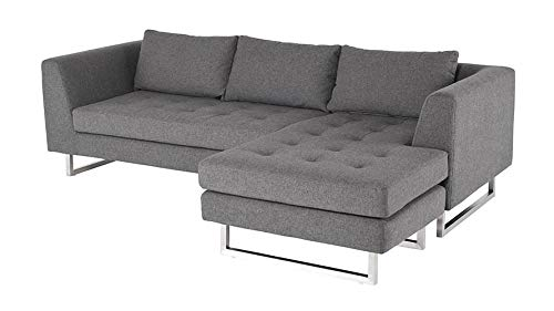 Awesome Amazon Com Nuevo Matthew Sectional Sofa In Silver And Gray Ibusinesslaw Wood Chair Design Ideas Ibusinesslaworg