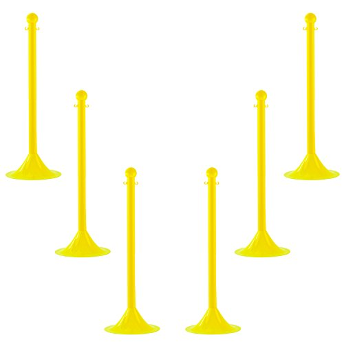 Mr. Chain 91502-1 2'' Plastic Portable Post-Yellow
