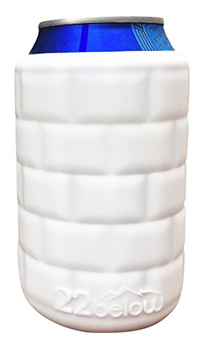 22below: Foldable Can Cooler Lightweight Silicone Drink Sleeve that Molds to your Drink Made in the USA - 1