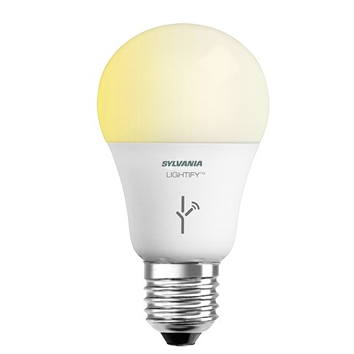 SYLVANIA LIGHTIFY ZigBee Soft White Dimmable A19 LED Bulb, Works with SmartThings, Wink, and Amazon Echo Plus, Hub needed for Amazon Alexa and the Google Assistant