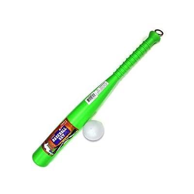 Bulk Buys Plastic baseball bat and ball Case Of 12 by Bulk Buys