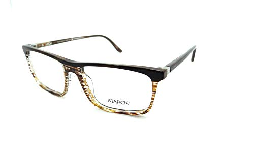 d51b808b47f8b Starck Eyes Mikli Rx Eyeglasses Frames SH3038 0002 54x16 Striped Brown Italy