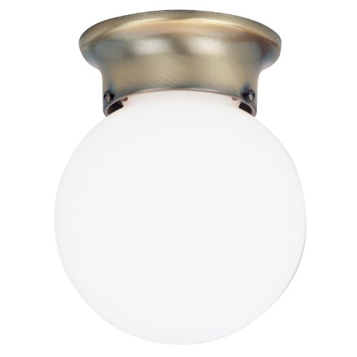 (Westinghouse Ceiling Fixture A19 6 In. Dia Antbrs,White Uses 1 Med Base Bx)