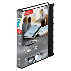 "Wilson Jones View-tab Presentation Binder, 1"" Capacity, 8.5"" x 11"" Sheet Size, Black (W55095)"