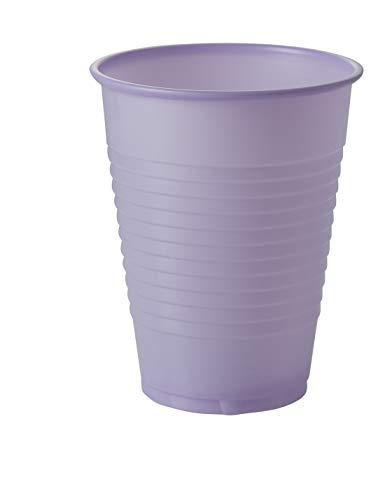 Exquisite 12 oz Lavender Plastic Cups II 50 Count Bulk Pack Disposable Party Cups II Premium Quality Plastic Tumblers for Parties ()