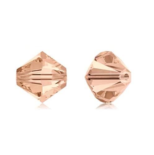(50pcs 8mm Adabele Austrian Bicone Crystal Beads Light Peach Compatible with Swarovski Crystals Preciosa 5301/5328 SSB818 )