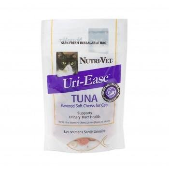 Feline Urinary Tract Formula - Uri-Ease Helps Maintain a Cat's Urinary Tract Health - Tuna Flavored Soft Chews - 2.5 Ounces - Made in USA