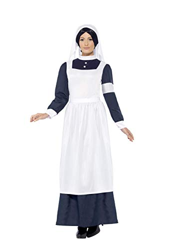Smiffys Women's Great War Nurse Costume, Dress and Headpiece, Tales of Old England, Serious Fun, Size 10-12, 43430 -