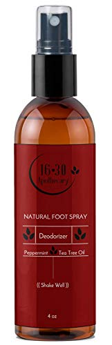 Antifungal Foot Odor Spray - Natural Deodorant For Smelly Feet, Extra Strength - With Tea Tree Oil, Peppermint, Eucalyptus & Lavender - Kills The Bacteria That Causes Foot Odor