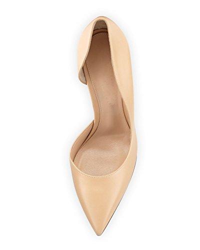Nude Haut Talon Bout Aiguille Femme Escarpins 10cm Pointu A Enfiler Edefs Chaussures Zqxt6PIwn