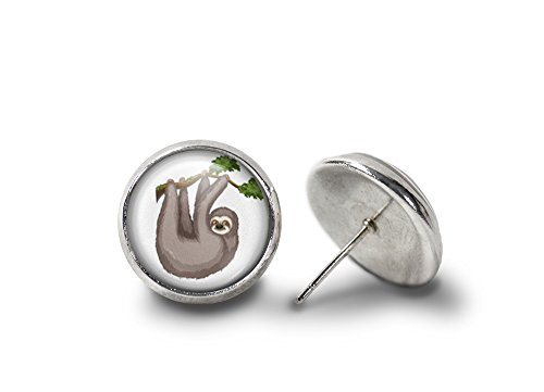 Tree Sloth Earrings (Silver-Plated) -