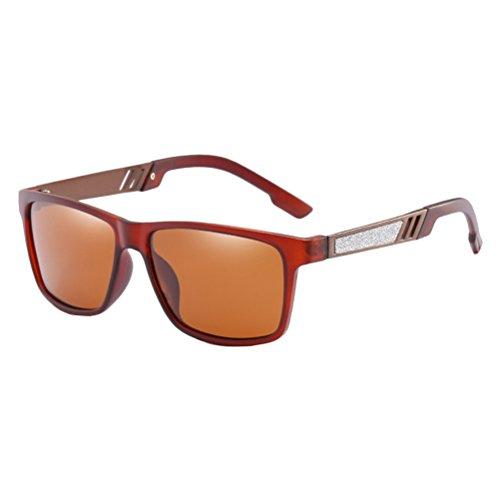 Différentes Classique Dans Confort Soleil Polarisées des Verres Adapte Zhhlaixing Nez Tea Hommes Couleurs Le Lunettes de de Sunglasses Style D'usage de TEqFC