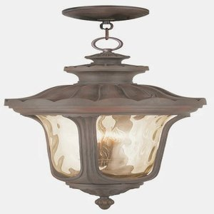 Livex Lighting 76703-58 Oxford 4 Light Outdoor Hanging Lantern Lantern, Imperial Bronze