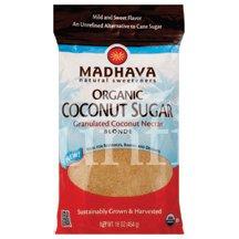Madhava Honey Organic Blonde Coconut Sugar 16 oz. (Pack of 6) by Madhava Honey [Foods]