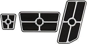 Billet Grooved - Billet Specialties 198625 Universal Grooved Pedal Kit, Black