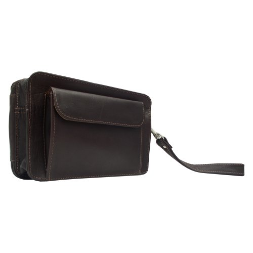 UPC 721502229033, Piel Leather Organizer Bag, Chocolate, One Size