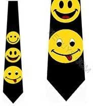 Smiley Face Ties Happy Face Mens Necktie by Three Rooker