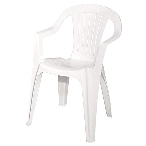 Adams Mfg 8234-48-3704 WHT Low Back Chair - Quantity 1 (Plastic Chair Outdoor)