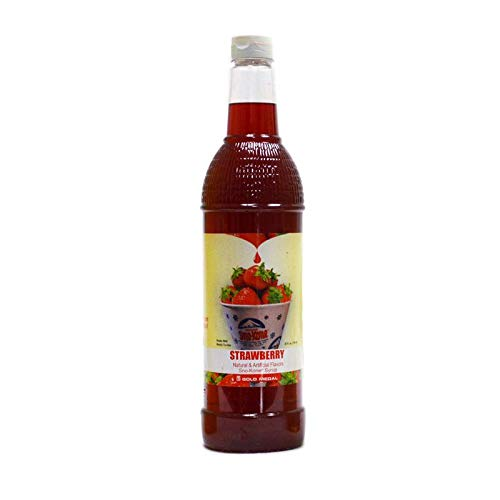 (Beach City Wholesalers Sno-Treat Sno-Kone Syrup RTU - Strawberry 25 oz (12 count))