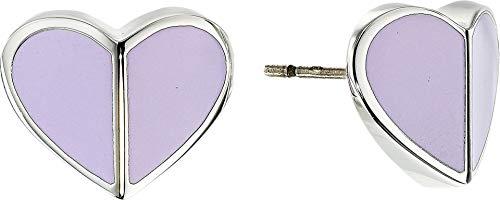 Kate Spade New York Women's Heritage Spade Small Heart Studs Earrings Frozen Lilac One Size