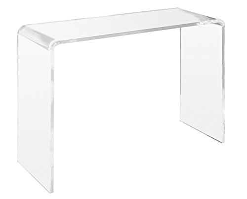 "Unum Crystal Clear Acrylic Console Table - Sofa, Entryway, Couch or Hall Tables - Goes Well with Ghost Chair - Handcrafted of Premium Polished Lucite - by 38"" L x 15\"" D x 29\"" H - 3/4 Thick"