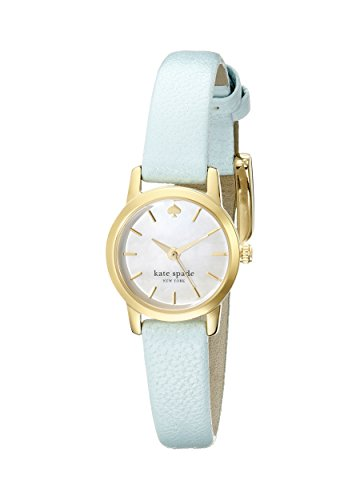 kate spade new york Women's 1YRU0831 Tiny Metro Watch With Blue Leather Band