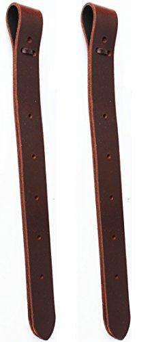 "PRORIDER Horse 17"" Western Saddle Off Billet Latigo Leather Cinch Tie Strap (2 PCS) 40413"