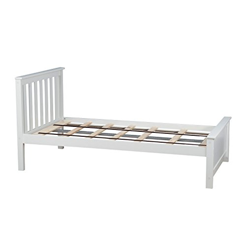 - Max & Lily Solid Wood Twin-Size Bed, White