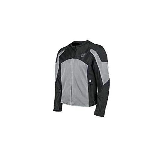 Speed Mesh Jacket - Speed and Strength Midnight Express Mesh Men's Street Motorcycle Jacket - Silver/Black/Medium