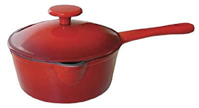 Le Cuistot Enameled Cast-Iron 1.3 Quart Saucepan with Pouring Spout