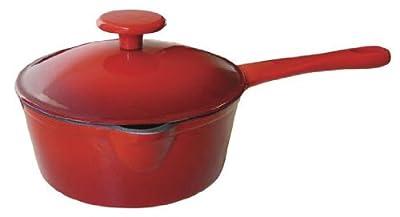 Le Cuistot Enameled Cast-Iron 1.3 Quart Saucepan with Pouring Spout