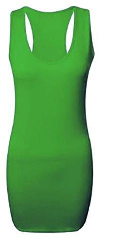 Jade mangas Fitness mangas para Mujer sin sin s deportivo Top largo verde z7qUza