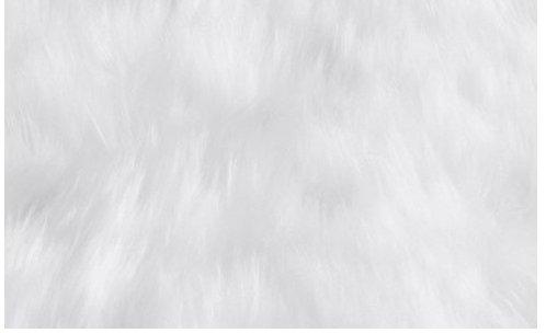 Super Soft Faux Sheepskin Silky Shag Rug 3 x5 , White