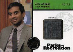 Aziz Costume Ansari (Parks and Recreation Costume Card R-AA Aziz Ansari as Tom Haverford #96 of)