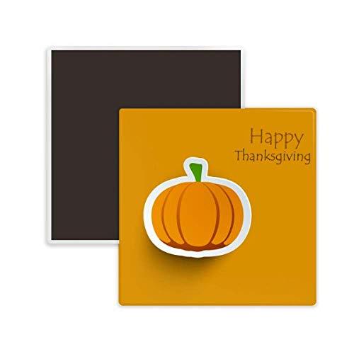 DIYthinker Thanksgiving Day Pattern Cartoon Pumkin Square Ceramics Fridge Magnet -