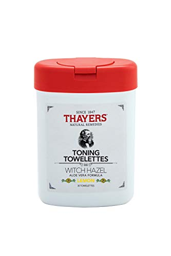 Thayers - Witch Hazel Aloe Vera Formula Toning Towelettes Lemon, 30 Count